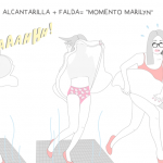 Alcantarilla + falda = Momento Marilyn
